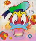 Paintings, Peter Max (American, b. 1937). Donald Duck. Oil on canvas. 16 x 14 inches (40.6 x 35.6 cm). Signed upper right: Max...