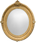 Furniture : American, An American Rococo Revival Oval Giltwood Mirror, mid-19th century.39-1/2 h x 33-1/2 w x 4-1/2 d inches (100.3 x 85.1 x 11.4...