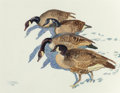 Works on Paper, Robert E. Lougheed (American, 1910-1982). Geese. Watercolor on paper. 10-1/2 x 13-1/2 inches (26.7 x 34.3 cm) (sight). S...