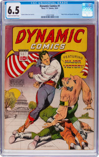 Dynamic Comics #1 (Chesler, 1941) CGC FN+ 6.5 Cream to off-white pages