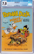 Golden Age (1938-1955):Cartoon Character, Four Color #9 Donald Duck (Dell, 1942) CGC FN/VF 7.0 Off-whitepages....