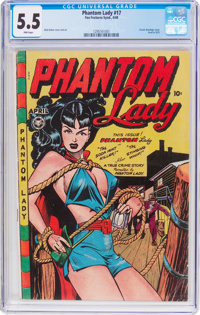 Phantom Lady #17 (Fox Features Syndicate, 1948) CGC FN- 5.5 Pink pages