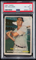 Baseball Cards:Singles (1950-1959), 1957 Topps Ted Williams #1 PSA VG-EX+ 4.5....