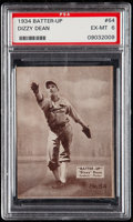 Baseball Cards:Singles (1930-1939), 1934 Batter-Up Dizzy Dean #64 PSA EX-MT 6....