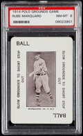 Baseball Cards:Singles (Pre-1930), 1914 Polo Grounds Game Rube Marquard PSA NM-MT 8....