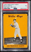 Baseball Cards:Singles (1950-1959), Rare 1958 Hires Root Beer Test Willie Mays (No Tab) PSA Poor 1....