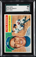 Baseball Cards:Singles (1950-1959), 1956 Topps Phil Rizzuto (Gray Back) #113 SGC 86 NM+ 7.5.. ...