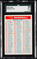Baseball Cards:Singles (1950-1959), 1956 Topps Checklist 2/4 SGC 86 NM+ 7.5.. ...