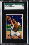 Baseball Cards:Singles (1950-1959), 1951 Bowman Roy Campanella #31 SGC 84 NM 7.. ...