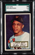 Baseball Cards:Singles (1950-1959), 1952 Topps Willie Mays #261 SGC 20 Fair 1.5.. ...