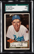 Baseball Cards:Singles (1950-1959), 1952 Topps Andy Pafko (Black Back) #1 SGC 50 VG/EX 4.. ...