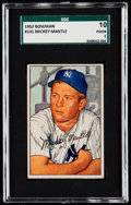 Baseball Cards:Singles (1950-1959), 1952 Bowman Mickey Mantle #101 SGC 10 Poor 1.. ...