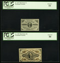 Fractional Currency, Fr. 1227 3¢ Third Issue PCGS About New 53;. Fr. 1253 10¢ ThirdIssue PCGS About New 50.. ... (Total: 2 notes)