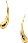 Estate Jewelry:Earrings, Gold Earrings, Elsa Peretti for Tiffany & Co. . ...