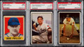 Baseball Cards:Lots, 1948 Leaf Dave Philley and 1953 Bowman Color Courtney & MartinPSA Graded Trio (3).. ...