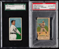 Baseball Cards:Lots, 1909-11 T206 EPDG Jack White and 1920 W516-1 Rogers Hornsby GradedPair (2).. ...