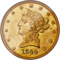 Liberty Eagles, 1844 $10 MS63 NGC....