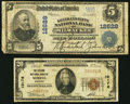 National Bank Notes:Wisconsin, Merrill, WI - $20 1929 Ty. 1 The Citizens NB Ch. # 10176;. Milwaukee, WI - $5 1902 Plain Back Fr. 609 The Grand an... (Total: 2 notes)