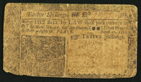 New Jersey April 12, 1760 12s Very Good-Fine
