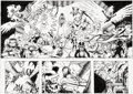 Original Comic Art:Panel Pages, Juvaun Kirby and Caleb Salstrom X-Babies: Reborn #1Double-Page Spread 37-38 Original Art (Marvel, 2000)....