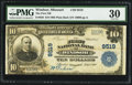 National Bank Notes:Missouri, Windsor, MO - $10 1902 Plain Back Fr. 626 The First NB Ch. # 9519....