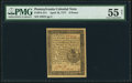 Colonial Notes:Pennsylvania, Pennsylvania April 10, 1777 6d PMG About Uncirculated 55 Net.. ...