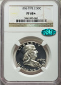 Proof Franklin Half Dollars, 1956 50C Type Two PR68★ NGC. CAC. NGC Census: (4272/936 and 337/138*). PCGS Population: (740/28 and 337/138*). Mint...