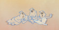 Animation Art:Production Cel, The New Casper Cartoon Show Casper and the Ghostly TrioProduction Cel Setup and Animation Drawings Group (Harveytoons...