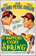 """Movie Posters:Sports, It Happens Every Spring (20th Century Fox, 1949). One Sheet (27"""" X 41""""). Sports.. ..."""