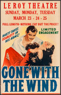 "Movie Posters:Academy Award Winners, Gone with the Wind (MGM, 1940). Window Card (14"" X 22""). AcademyAward Winners.. ..."