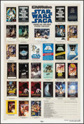 "Movie Posters:Science Fiction, Star Wars Saga Checklist (Killian, 1985). Poster (27"" X 40"") DS.Science Fiction.. ..."