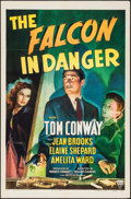 "Movie Posters:Mystery, The Falcon in Danger (RKO, 1943). One Sheet (27"" X 41""). Mystery....."