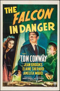 "The Falcon in Danger (RKO, 1943). One Sheet (27"" X 41""). Mystery"