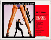 "For Your Eyes Only (United Artists, 1981). Half Sheet (22"" X 28""). James Bond"
