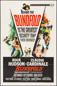 "Blindfold & Other Lot (Universal, 1966). Folded, Fine/Very Fine. One Sheets (2) (27"" X 41"") & Lobby Ca..."