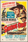 "Movie Posters:Western, Singing Guns (Republic, 1950). One Sheet (27"" X 41""). Western.. ..."