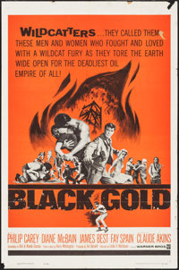 "Black Gold (Warner Bros., 1962). Folded, Fine+. One Sheet (27"" X 41"") & Lobby Card Set of 8 (11"" X 14..."