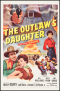 """Movie Posters:Western, The Outlaw's Daughter (20th Century Fox, 1954). One Sheet (27"""" X 41""""). Western.. ..."""