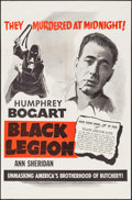 """Movie Posters:Crime, Black Legion (Dominant Pictures, R-1950s). One Sheet (27"""" X 41""""),Lobby Card Set of 4 (11"""" X 14""""), & Photos (2) (8"""" X 10). C...(Total: 7 Items)"""