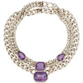 Estate Jewelry:Necklaces, Amethyst, Sterling Silver Necklace. ...