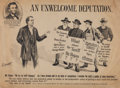 Political:Posters & Broadsides (1896-present), [William McKinley]: Anti-Bryan Cartoon Poster Featuring Lincoln....