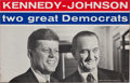 """Political:Posters & Broadsides (1896-present), Kennedy & Johnson: """"Laminated Variety"""" Jugate Poster...."""