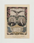 Political:Posters & Broadsides (pre-1896), Polk & Dallas: Jugate Grand National Banner with Texas Iconography....