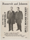 Political:Posters & Broadsides (1896-present), Roosevelt & Johnson: Never-before-Seen Jugate Poster with Unique Imprint....