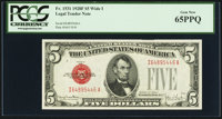 Fr. 1531 $5 1928F Legal Tender Note. PCGS Gem New 65PPQ