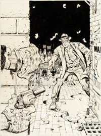 Will Eisner and Ken Kelly Spirit #6 Cover Original Art and Color Guide (Warren, 1975).... (Total: 2 Original Art)