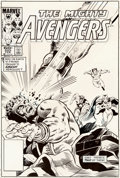 Original Comic Art:Miscellaneous, Bob Hall and Joe Sinnott Avengers #252 Cover Production Stat(Marvel, 1985)....