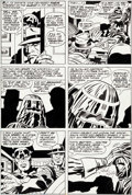 Original Comic Art:Panel Pages, Jack Kirby, Frank Giacoia, and John Verpoorten Captain AmericaAnnual #3 Story Page 7 Original Art (Marvel, 1976)....