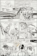 Original Comic Art:Panel Pages, Curt Swan and Al Vey New Titans Annual #6 Page 26 OriginalArt (DC, 1990)....