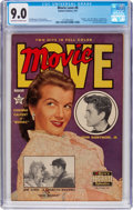 Golden Age (1938-1955):Romance, Movie Love #8 (Famous Funnies Publications, 1951) CGC VF/NM 9.0Off-white to white pages....
